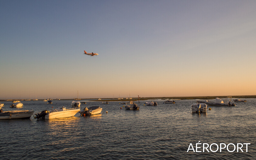 RIA Formosa entourant l'aéroport international de Faro