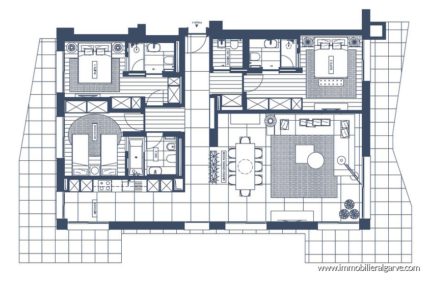 plan de l'appartement 1 the5